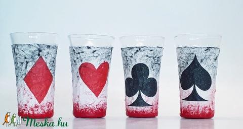Póker dísz- és használati italos szett, ajándék ötlet kártyásoknak házavatóra, kártya partira, szülinapra (Biborvarazs) - Meska.hu