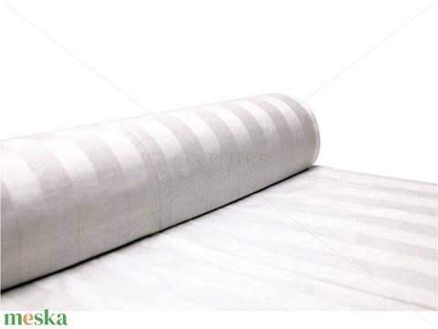 Hófehér csíkos DAMASZT szalvéta - 2 db, 100% pamut (Blessyou) - Meska.hu
