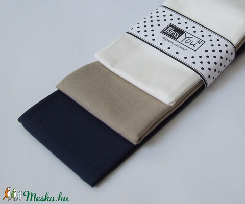 CLASSIC egyszínű puha pamut zsebkendők (Blessyou) - Meska.hu