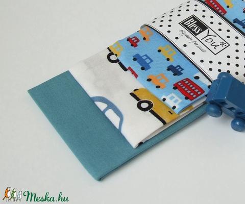 Autós textilzsebkendő kisfiúknak - vidám színekben (Blessyou) - Meska.hu