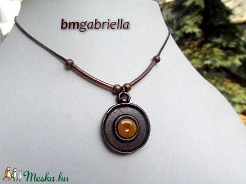 Avar korong - tűzzománc medál - egyedi tervezésű ékszer - kézműves medál (bmgabriella) - Meska.hu