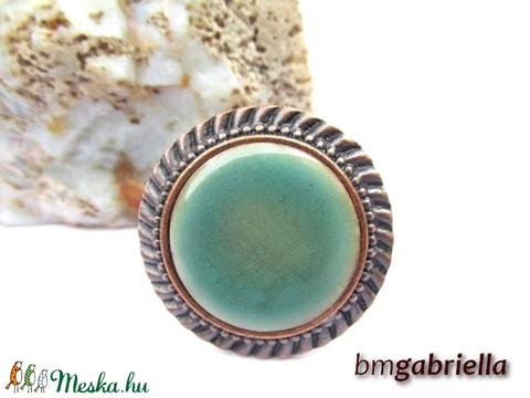Tűzzománc gyűrű - egyedi tervezésű kézműves gyűrű - állítható, modern gyűrű - ékszer - gyűrű - statement gyűrű - Meska.hu