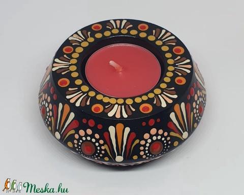Mandalás mécsestartó (bobitavarazs) - Meska.hu