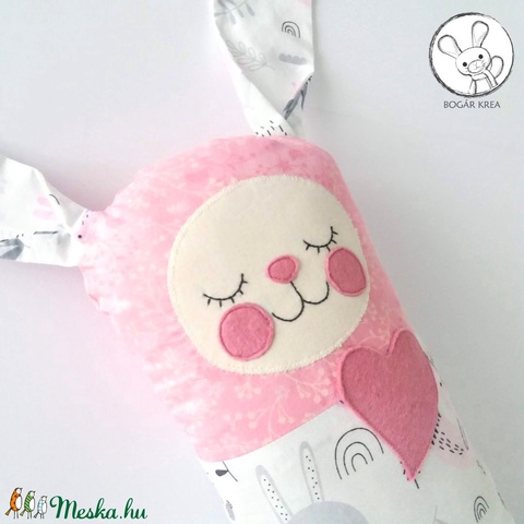 Szundi párna - nyuszi rózsaszínben (boGarkrea) - Meska.hu