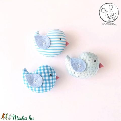 Kismadarak - kék szett - 3 darab függeszthető dísz, dekor madár, lakásdísz (boGarkrea) - Meska.hu
