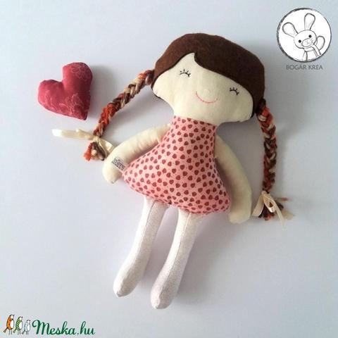 Kankalin baba + kabala szívecske - textil figura, puha baba, designer fejlesztő játék (boGarkrea) - Meska.hu