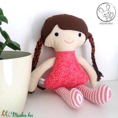 Hanga baba + kabala szívecske - textil figura, puha baba, designer fejlesztő játék (boGarkrea) - Meska.hu