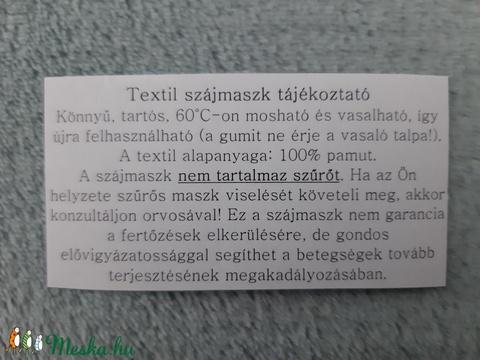 Női textil arcmaszk - halványtürkiz, pöttyös - Meska.hu