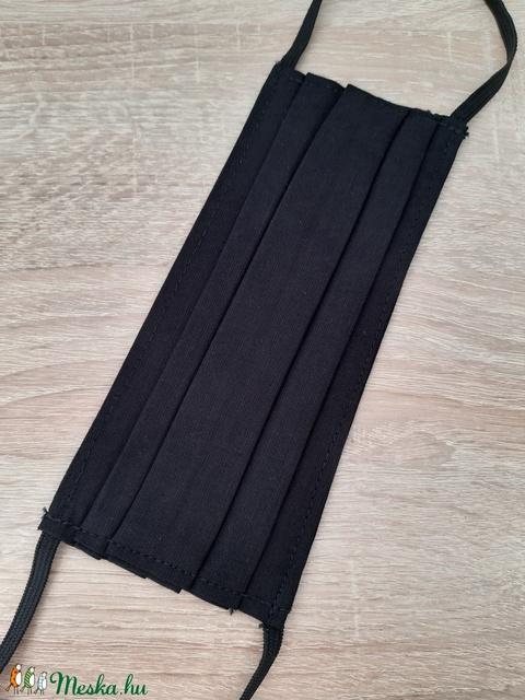 Férfi textil arcmaszk - fekete egyszínű - Meska.hu