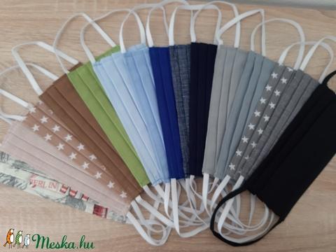 Drótos textil arcmaszk férfiaknak - világoskék egyszínű - Meska.hu