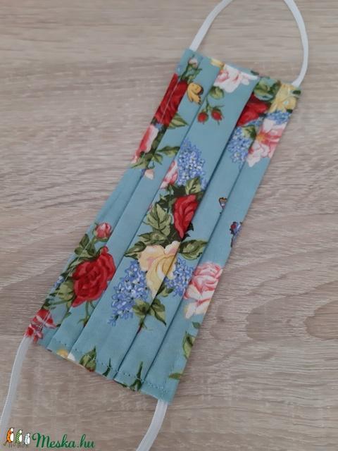 Prémium, drótos textil arcmaszk hölgyeknek - pasztell kék, rózsás - Meska.hu