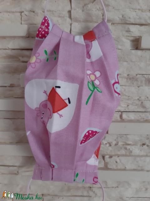 Gyermek textil maszk - rózsaszín, Peppa malac - Meska.hu