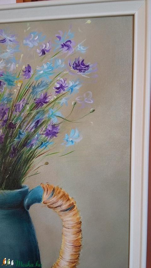 Mezei virágcsokor - 40x50 akril festmény  (BohemKucko) - Meska.hu