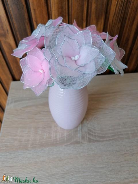 Világos rózsaszín virágcsokor - örökvirág, örökcsokor, asztaldísz, tavaszi dekor - Meska.hu