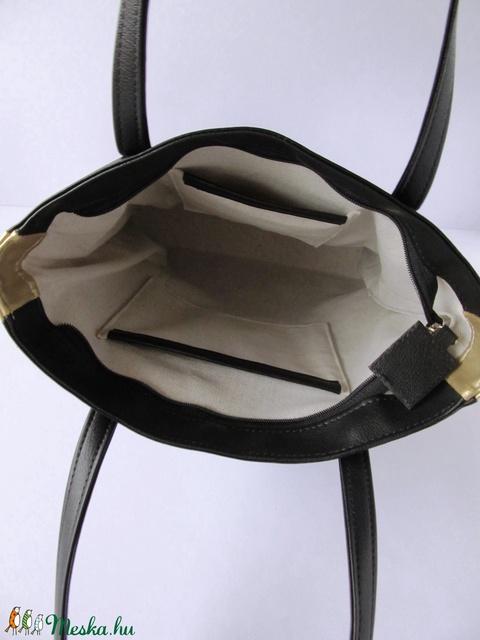 Fekete arany táska, válltáska, shopper (BOON) - Meska.hu