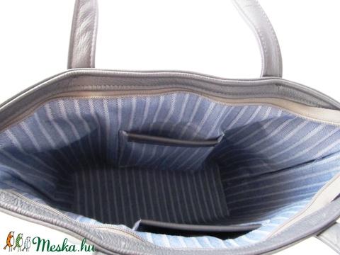 Kék bőr válltáska, shopper, valódi bőr táska (BOON) - Meska.hu