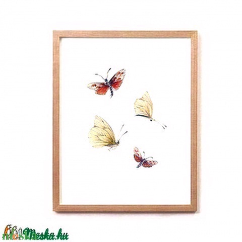 Pillangók - Print (Ceruza) - Meska.hu