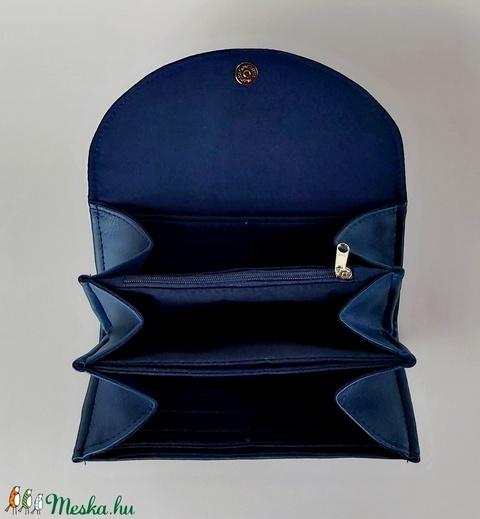 """Kék virágos textilbőr """"KRISZTI""""kártyatartós pénztárca (BrandM) - Meska.hu"""