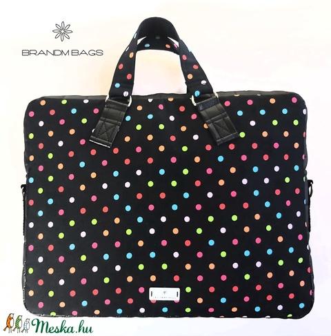 Pöttyös vízálló női laptop táska (BrandM) - Meska.hu