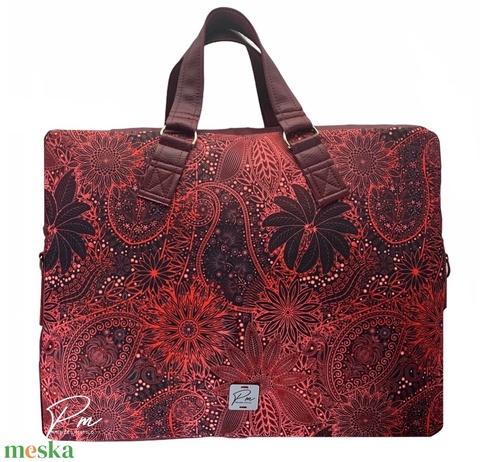 """Burgundi vörös vízálló """"EDIT"""" női laptop táska (BrandM) - Meska.hu"""