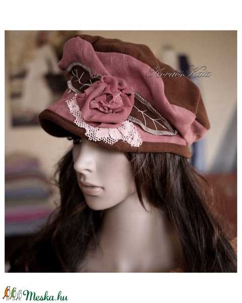 SHABBY ROSE - art to wear design-kalap (brokat) - Meska.hu