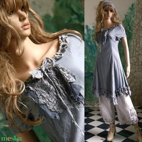 EMMY-BLUE - shabby chic design-ruha  - Meska.hu