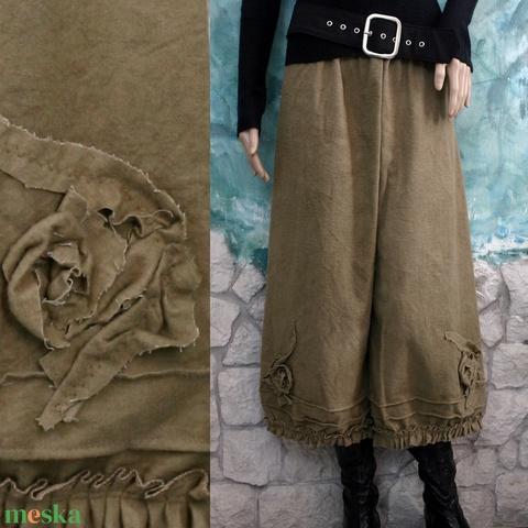 MÓNIKA - flanel-nadrág - kézműves lagenlook ruha (brokat) - Meska.hu
