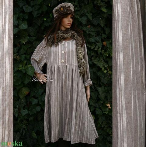 DORIS - lagenlook baby doll ruha  (brokat) - Meska.hu