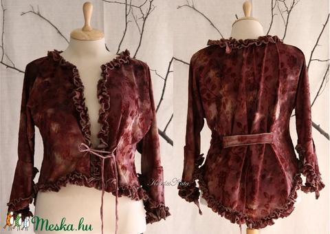 SHASHA - jersey kabátka - romantikus kardigán (brokat) - Meska.hu