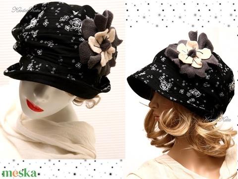 HELGA - design-kalap margarétával L (brokat) - Meska.hu