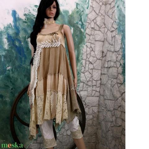 EMPÍR- shabby chic design-ruha (brokat) - Meska.hu