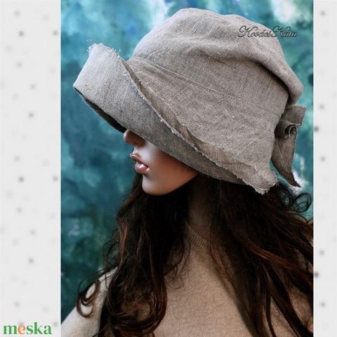 FLAMAND - lenvászon kalap  (brokat) - Meska.hu