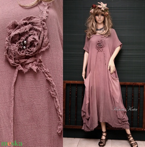 KIM-ARTSY - shabby chic lagenlook design ruha XXL - Meska.hu