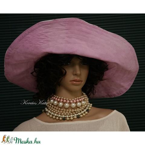 RIVIÉRA - extravagáns len-kalap, plázs-kalap - Meska.hu