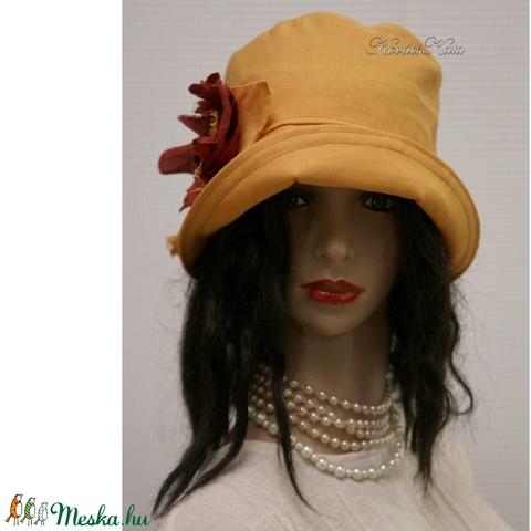 MARA cloche - lenvászon flapper kalap - Meska.hu