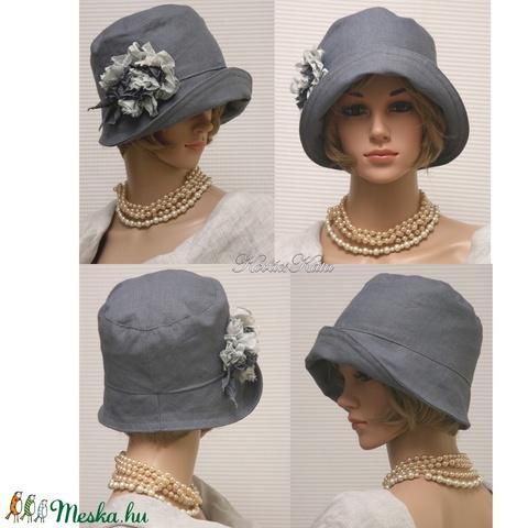MARA cloche - acélszürke flapper kalap (brokat) - Meska.hu