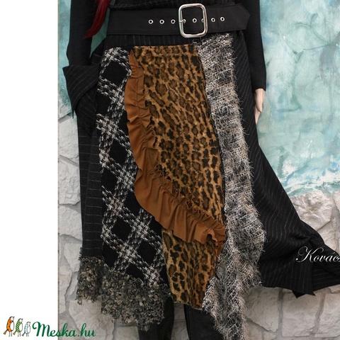 LEONA - patchwork téli design-szoknya (brokat) - Meska.hu
