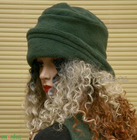 ERNA cloche - smaragd-zöld polár flapper kalap (brokat) - Meska.hu