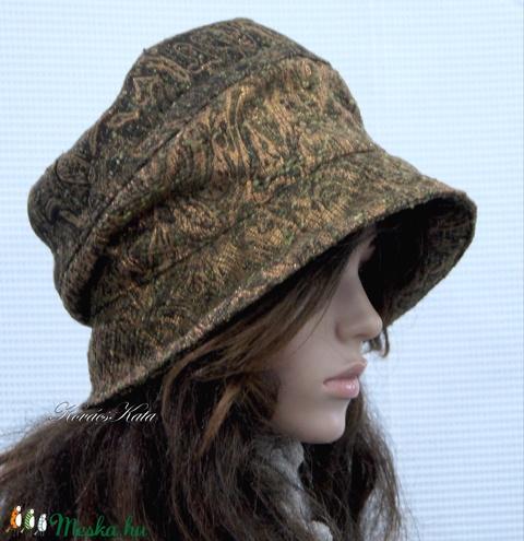 BERTA / aranyos - artsy design kalap  (brokat) - Meska.hu