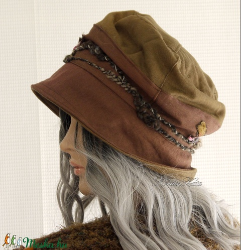 BERTA / fonalas - bohém design kalap  (brokat) - Meska.hu