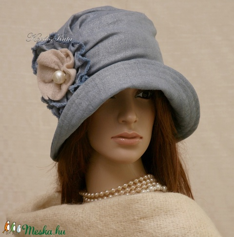 ERNA cloche - romantikus flapper kalap (brokat) - Meska.hu