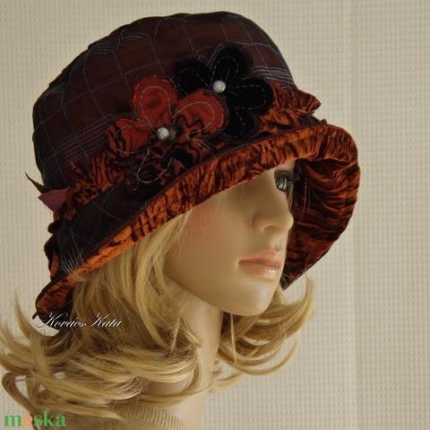GRÉTI - artsy design-kalap (brokat) - Meska.hu