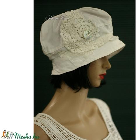LOLA - romantikus nyári-kalap - ruha & divat - sál, sapka, kendő - kalap - Meska.hu