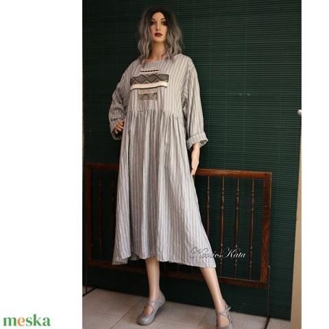 BABY-DOLL design-ruha csíkos viszkóz-selyemből (brokat) - Meska.hu
