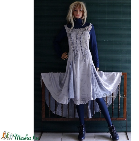 TAMARA/smoky - antik-csipkés design-ruha  (brokat) - Meska.hu