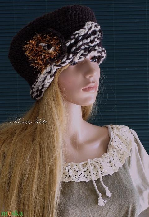 LORETTA / CSOKI - exkluzív horgolt kalap (brokat) - Meska.hu