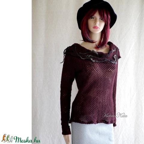 SZIRÉN-PULCSI - extravagáns design pulóver (brokat) - Meska.hu