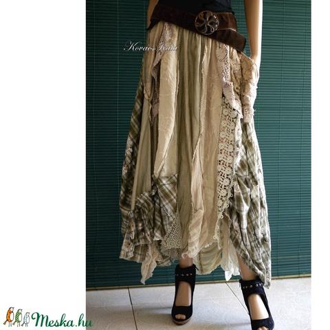BELINDA - extravagáns patchwork szoknya (brokat) - Meska.hu