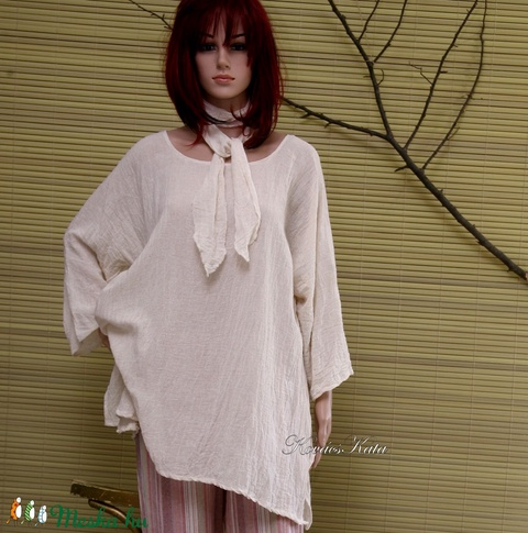 T-GÉZING kötővel  - lagenlook fashion design (brokat) - Meska.hu