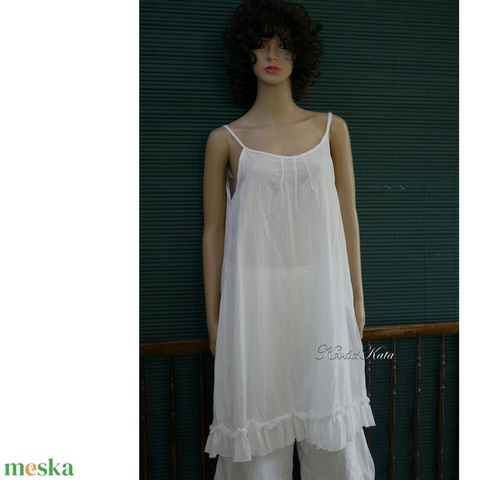 HÉDI / fehér - romantikus nyári ruha - Meska.hu